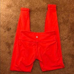 🍋 Lululemon size 4 leggings red / orange color